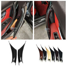 2*Carbon Fiber Interior Door Handle Panel Cover Trim For BMW 3 4 Series F30 F35