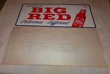 "VINTAGE DRINK BIG RED DELICIOUS DIFFERENT 27.5""X 12"" METAL SODA POP GAS OIL SIGN"