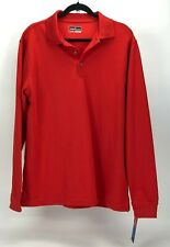 Grand Slam Performance Moisture Wicking Mens Red Large Long Sleeve Polo New