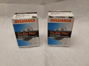Lot of 2 Sylvania Tru Aim 20MR11FL35C Light Bulb  20W 12V Halogen Premium Bulbs