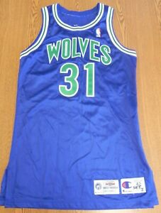 95/96 MINNESOTA TIMBERWOLVES Game Worn Jersey - SMITH - Georgetown All American