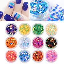 12 Color Round Nail Art Glitter Paillette Dot Shape Sequins Confetti 3D Neon Tip