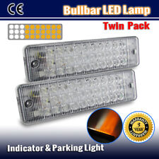 2 X BULLBAR FRONT PARKING INDICATOR LED LIGHTS AMBER WHITE PARK LAMP ARB