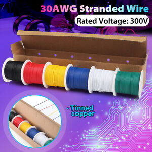22/30 AWG Gauge Electric Wire Tinned Copper Flexible PVC Hookup,Total 54M