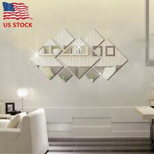 Creative 3D Mirror Wall Sticker Modern Wall Art Decals Removable Home Decor