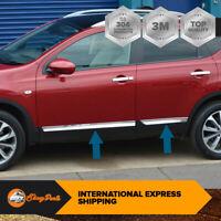 Fit Nissan Qashqai J10 2007-2013 Chrome Side Door Streamer 4Door 4Pcs S.Steel