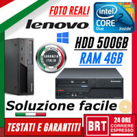 PC COMPUTER FISSO LENOVO THINKCENTRE M58 SFF CPU CORE 2 DUO RAM 4GB 500GB +WIN10