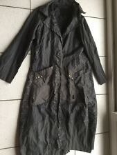 Imperméable Animale Trench long noir fines rayures taille 42