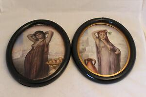 Akt Frauenporträt, Porzellan Bildplatte, deutsch um 1910,  wohl Thüringen