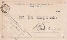 Dienst 5 feb 1885 Maartensdijk (hulpkantoor naamstempel) via Utrecht naar