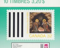 CHRISTMAS = ICON = SEALED Booklet of 10 (BK99) = MNH Canada 1988 #1225a
