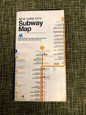 Vintage 1979 Side Opening NYC New York City Subway Map - MTA