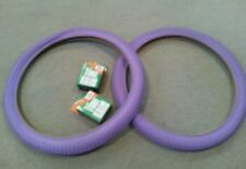 TWO(2) DURO 20X1.75 BMX/FREESTYLE BICYCLE TIRES PURPLE , & 2 TUBES