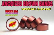 """Duck Call Brown Aluminum Anodized Bands Special 5-Pack 1.25"""" x 1.10"""" x .5"""""""