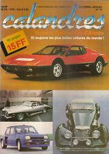 CALANDRES 10 1982 FERRARI 512 BB RENAULT 5 TURBO LOTUS ELITE DE TOMASO PANTERA