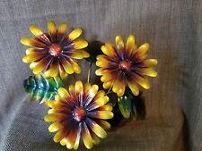 Vintage Mid Century Modern Daisy Flower Metal Sculpture