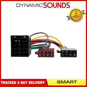 DS-SMART4-2 Car Stereo Radio ISO Harness Adaptor Lead For Smart For Two 2007-10
