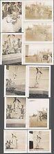 Lot of 11 Vintage Photos Men w/ Unusual Shark Fishing Catch Iwo Jima 730371