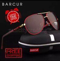 BARCUR Brand Design Aluminum Magnesium Men / Women Sunglasses Men Polarized