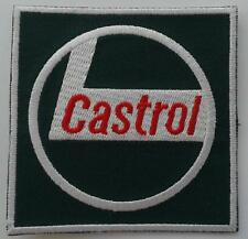 CASTROL OIL CLASSIC RACING CAR IRON ON EMBROIDERED PATCH 7.5cm x 7.5cm