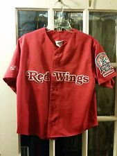 Detroit Red Wings 2002 Stanley Cup Champions Patch SEWN Baseball Jersey Womens M