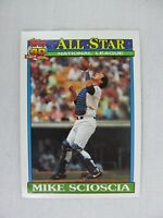 Mike Scioscia Los Angeles Dodgers 1991 Topps Baseball Card 404