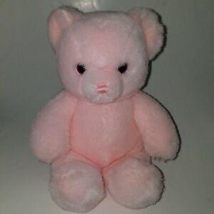 "VTG Karitas Tender Teddy Gund Pink Bear Rattle Lovey 9"" Baby Girl Toy 1983"
