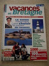 VACANCES EN BRETAGNE n° 1 ETE 1998. Côte de granit rose. Cap FREHEL. LE FAOUËT..