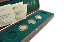 Deutscher Forest 3 X Gold Coins 999 Feingold Oak Beech Fichte Coins 2010