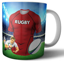 Scarlets Rugby Themed Mug - Birthday - Christmas - Stocking Filler