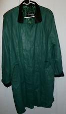 Valentino Womens soft green leather coat size Medium Trenchcoat