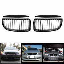 Black Front Kidney Grille Grill Kit Fit For BMW E90 3-Series Sedan Wagon 05-08