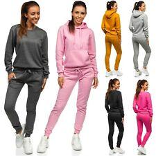 Trainingsanzug Hose Jogginganzug Sweatshirt Pulli Basic Damen Mix BOLF Unifarben