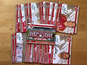 39 Ak FC Energie Cottbus Autograph Cards 2007-08 Original Signed