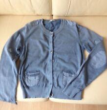 Strickjacke/ Cardigan von Street One, Gr. S-M, Cotton, blau, Strick+Stoff