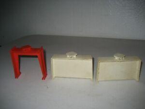 Vintage Hot Wheels Mattel Set of 3 Trestles White Red Redline Era 1968