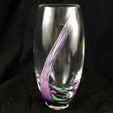 Vase Clear Hand Blown Glass