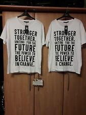 """L@@K M&S NWT SIZE LARGE 44"""" BUST BREAST CANCER AWARE SUMMER SUN COTTON T-SHIRT"""