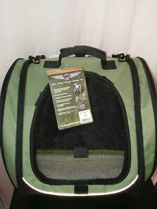 Pet Gear I-GO2 Escort Pet Carrier Car Seat Backpack Roller Bag dogs cats - Sage