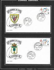 Mundial Futbol España 82 Sobres Conmemorativos Bilbao Oviedo (año 1982 (ER-483)
