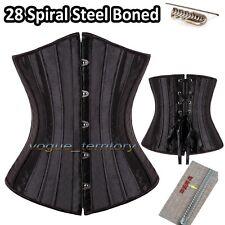 28 Spiral Steel Boned Waist Training Plus Size Underbust Corset Shaperwear Top