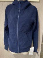 Lululemon Navy Blue Scuba Hoodie IV Jacket Full Zip  4 NWT with bag $118