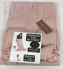 Manta Cobertor de sirena de lujo-hecho en el Reino Unido-Rosa Blush