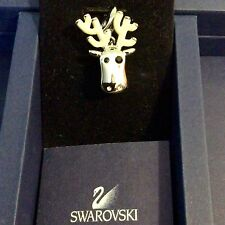 GENUINE SWAROVSKI® PAVE CHARM PENDANT W/SIGNED LOBSTER CLASP~CHRISTMAS REINDEER