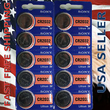 **FRESHLY NEW**10x SONY CR2032 Lithium Battery 3V Exp 2024 Pack 10 pcs Coin Cell