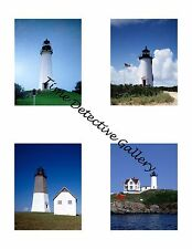 Lighthouses #1 - Photo Collage for Scrapbooking / Crafts / ATCs / ACEOs