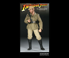 Sideshow 1/6 Indiana Jones German Disguise Lost Ark Gold Idol Hot Toys L@@K RARE