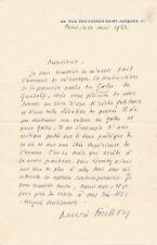 Art Henri Focillon lettre autographe signée Goethe Gundolf traduction Chuzeville
