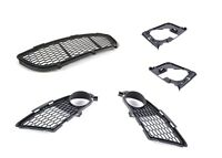 BMW E90 E91 LCI M Sport New Genuine Front Bumper Lower Grill Set With Holders