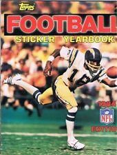 1984 TOPPS FOOTBALL  STICKER SET (283) W/UNUSED ALBUM